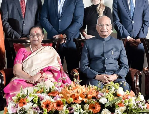 The President of The Republic of India Shri Ram Nath Kovindji in Cape Town